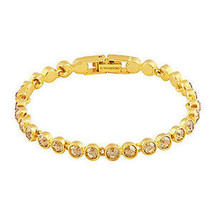 Authentic Swarovski Tennis Gold Bracelet - $93.50