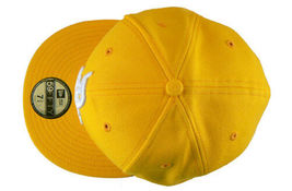 Dissizit! Mens Yellow English DX Bones Detroit New Era Fitted Baseball Hat Cap image 4