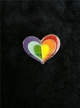 VTG Small Rainbow Pride Enamel Heart Pin - $14.84