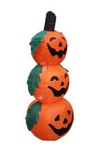 4 Foot Halloween Inflatable 3 Jack-O-Lanterns Yard Art Decoration - £30.49 GBP