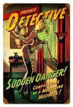 Private Detective Metal Sign ( Greg Hildebrandt ) - $29.95