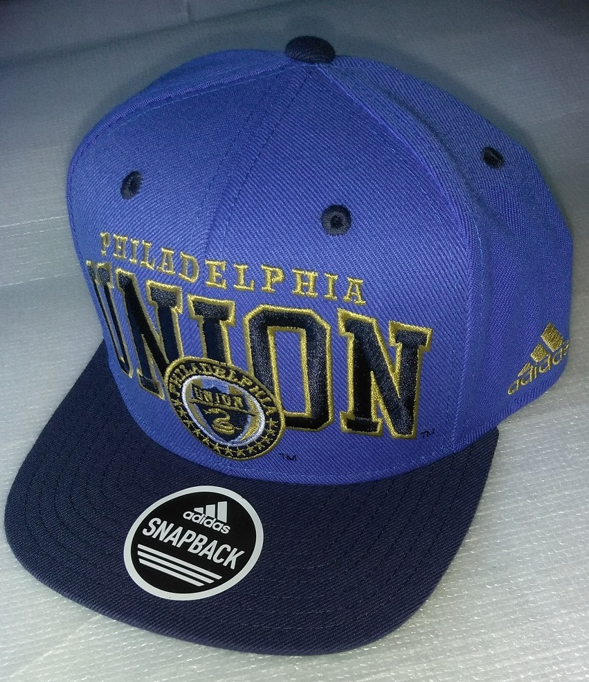 Primary image for  Adidas MLS Philadelphia Union Soccer Hat Cap Snap Back Flat Brim