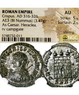 CRISPUS NGC AU RARE R1 in RIC#30 son of Constantine the Great Ancient Ro... - $269.10