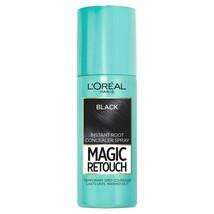 BIG SALE L'Oreal Paris Magic Root Cover Up Temporary Hair Colour Black 75ml - $5.59