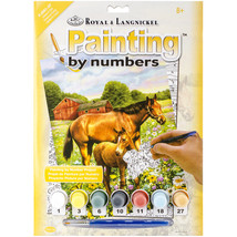 """Junior Small Paint By Number Kit 8.75""""X11.75"""" Horse In Field - $9.43"""