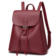 Students Leather Backpacks 3 Color Medium School Bookbags,Bags  P239-1 - $39.00