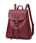 Students Leather Backpacks 3 Color Medium School Bookbags,Bags  P239-1 - £29.82 GBP