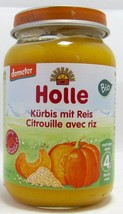 Holle ORGANIC Pumpkin with Rice ready meal-1 jar-FREE SHIPPING - $9.36