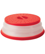Collapsible Microwave Cover Lid Vented Easy Grip Prevent Splatter 10.5 I... - $13.60