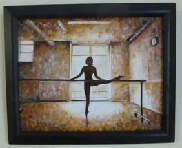 "Akimova: BALLERINA, oil, size 8""x10"", ballet, dancer - $25.00"
