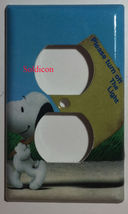 Peanuts Snoopy Turn off the Light Switch Power Outlet Cover Plate Home Decor image 2