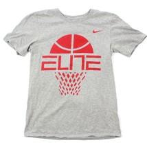 Nike ELITE Basketball Tee Adult Small S Athletic Cut Short Sleeve Gray Heather - $17.39
