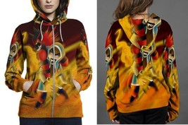 Burning Demise HOODIE ZIPPER FULLPRINT WOMEN - $60.99+