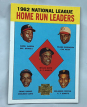 Home Run Leaders, 2001 Topps Archives Reprint Baseball card #3, Aaron, Mays - $6.92