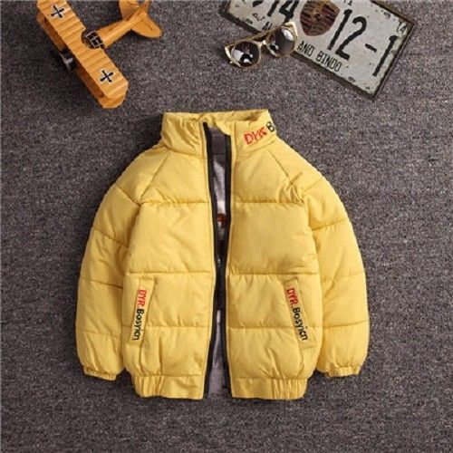 Boys Jacket  Autumn Solid Polyester Warm Outerwear Boy Coats 4 To 8 Years Old 4T