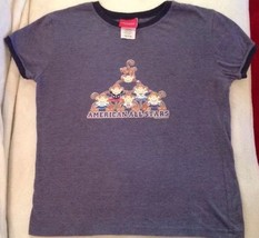 SONOMA Short Sleeve Blue Ringer Style T-shirt Patriotic Monkeys Girls Size XL - $9.00