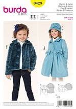 Burda Kids Toddler and Jacket Sewing Pattern 9429 - $12.74