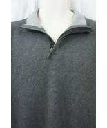 Tasso Elba Sweater Mens Sz XXL Dark Grey Heather Cotton Henley Pullover     - $36.26