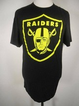Cool Men's XL NFL Oakland Raiders Black Short Sleeve T-Shirt W/ Green Branding - $14.48