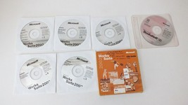 Microsoft Works Suite 2002 PC 5 CD-ROMs Word 2002 Money Picture It! Phot... - $10.40