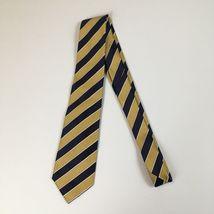 """Ermengildo Zegna Gold/Blue Stripe 58x3.25"""" Made In Italy Tie - $22.86"""