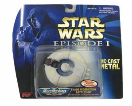 STAR WARS Episode 1 First Edition Federation Battleship Die-Cast Micro Machines  - $32.75