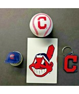 Cleveland Indians Vending Charms Lot of 4 Ball, Helmet, Key Chain Decal ... - £18.17 GBP
