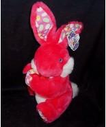 "15 "" Vintage Kellytoy Rose Foncé Oeuf de Pâques Bunny Rabbit Animal en P... - $30.73"