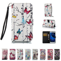 PU Leather Magnetic Flip Wallet Strap Stand Case Cover for Samsung J3 J5... - $9.99