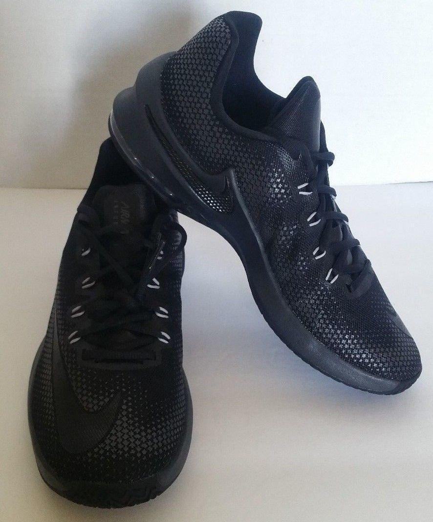 new arrival 70c64 b47b3 Nike Men s Air Max Infuriate Low Basketball Shoes Black 852457 001 Size 9.5  New