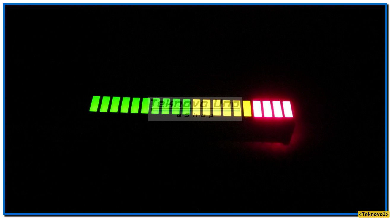 Primary image for 4 pcs TriColor Fixed LED Bargraph Array 20-Segments (for Audio VU Meter) - USA