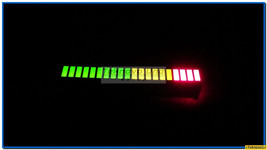 4 pcs TriColor Fixed LED Bargraph Array 20-Segments (for Audio VU Meter)... - $8.51