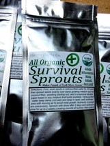 ORGANIC Survival Bean Sprouts MRE Micro Greens Seeds Sprouting Blend Wheatgrass image 2