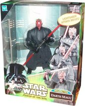 "Star Wars Power of the Jedi DARTH MAUL Mega Action 6""nch Figure POTJ - $15.85"