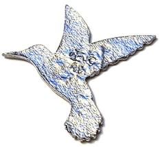 HUMMINGBIRD FINE PEWTER FLAT - Approx. 3/4 inch tall  DIY (T182) image 2