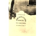 Tombstone dedicated to John Barleycorn prohibition alcohol booze 5 x 7 reprint