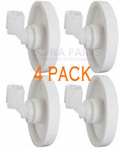 4 Pack New EA420037 Dishwasher Lower Rack Wheel & Clip Fits Frigidaire Kenmore - $13.79