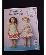 Sunshine Sundresses Toddlers' Sewing Pattern Ellie Mae Kwik Sew K619  T1-T4 - $8.99