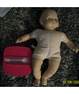 American Girl Bitty baby Brown Hair & Brow Eyes & Plastic Lunch Container - $25.00