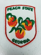 Vintage Voyager Peach State Georgia GA Souvenir Embroidered Patch - $5.27