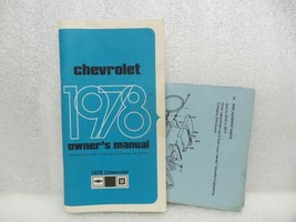 1978 Chevrolet Chevy Owners Manual 16072 - $16.82