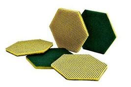 Fibra abrasiva a doppia funzione Scotch-Brite 96HEX, verde/giallo, 147x1... - $52.57