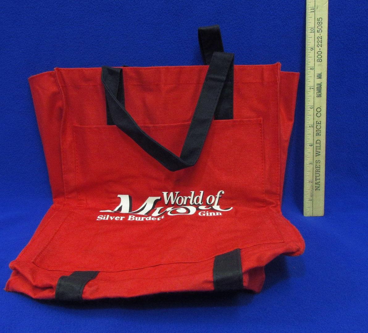 Silver Burdett Ginn World Of Music Tote Bag Carrying Case Red w/ Black Handles