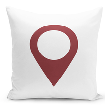 "Throw Pillow Set Location Current Location Pin Pillow 16"" Stuffed Decora... - £22.87 GBP"