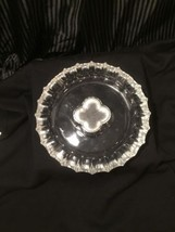 FOSTORIA CRYSTAL COIN GLASS CLEAR ASH TRAY 1887... - $41.57