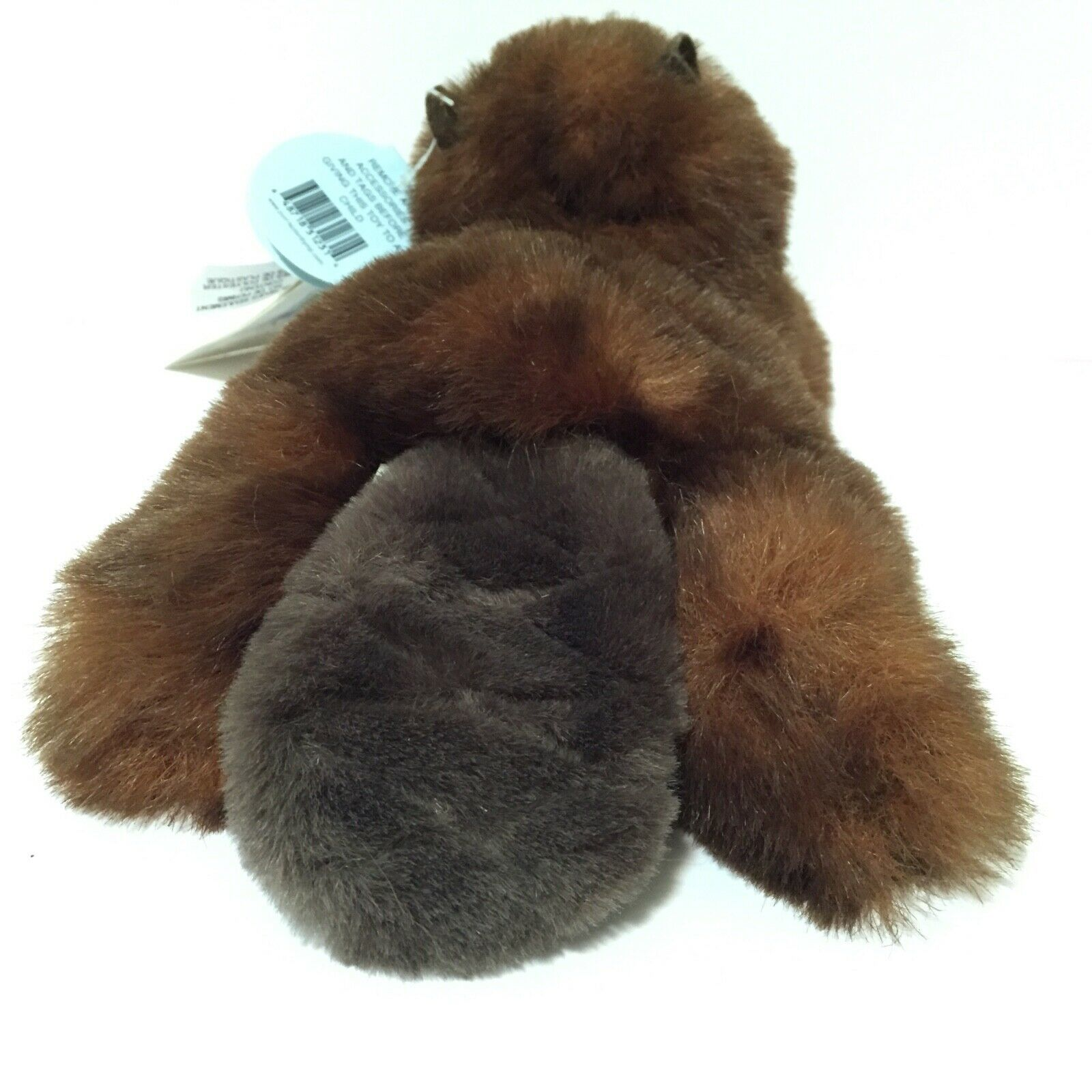 """Vintage MJC 1988 Beaver 9"""" Plush Stuffed Toy Ontario Parks New With Tags"""