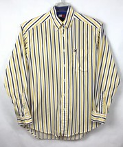 Tommy Hilfiger Mens Size S Shirt Button Front Long Sleeve Flag Logo Stripe A3-7 image 2