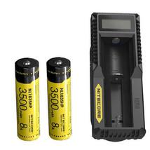 2x Nitecore NL1835HP 3500mAh 18650 Li-ion Battery w/ UM10 Charger - $47.52