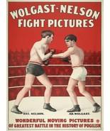Wall Decor Poster.Home Room art dorm design.Boxing match.Nelson vs Wolga... - $10.89+