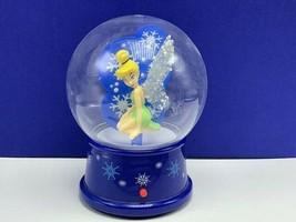 Tinker Bell music box snowglobe snowdome peter pan Christmas songs walt disney - $48.15